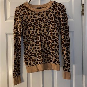 Leaped print sweater